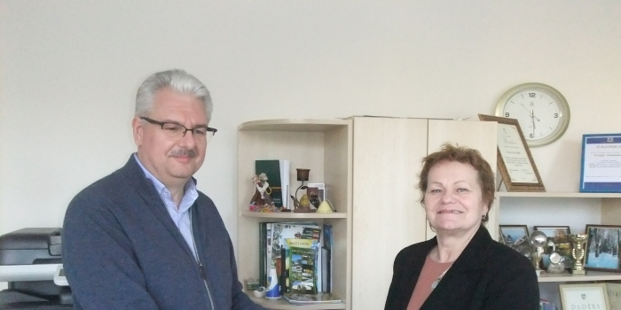 M. Bartaševičius su Birštono muziejaus direktore V. Šalomskiene