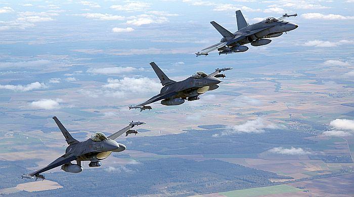 Birželio 19-25 d. NATO oro policijos funkcijas Baltijos šalyse vykdantys naikintuvai kilo du kartus