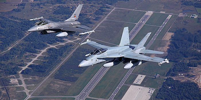 NATO oro policijos funkcijas Baltijos šalyse vykdantys naikintuvai kilo penkis kartus