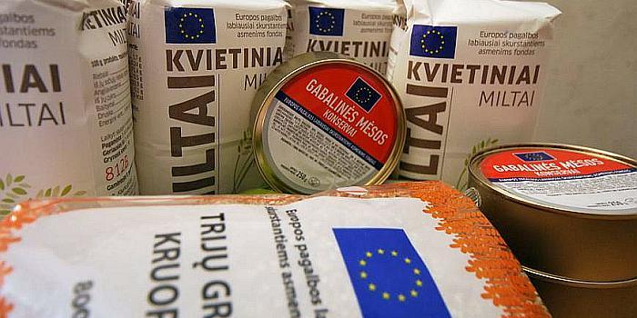 ES parama maisto produktais ir higienos prekėmis Prienų mieste