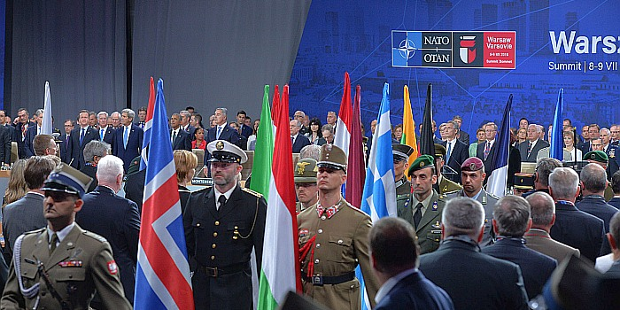 Ceremony honouring NATO military personnel for service in operational theatres of the Alliance