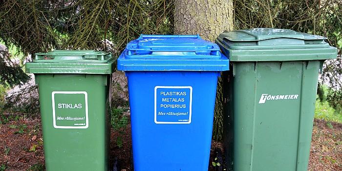 Informacija apie naują komunalinių atliekų surinkimo tvarką