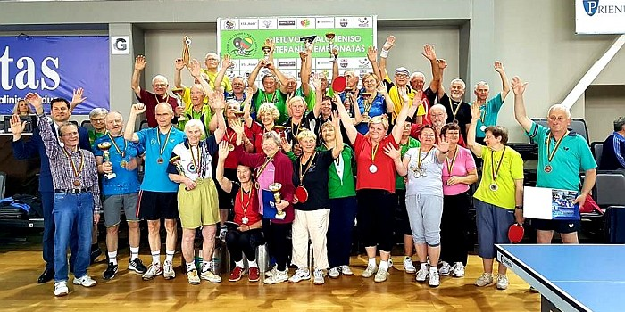 Šalies stalo teniso veteranų čempionatas sulaukė apie 300 dalyvių