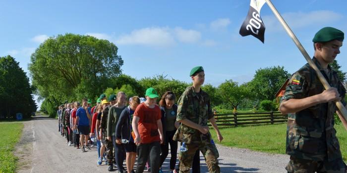 Jaunųjų šaulių stovykla Balbieriškyje