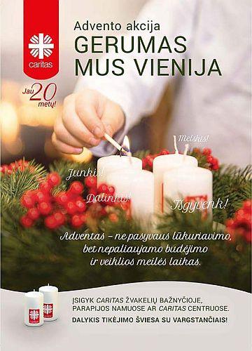 """Caritas Advento paramos akcija """"Gerumas mus vienija 2017"""""""
