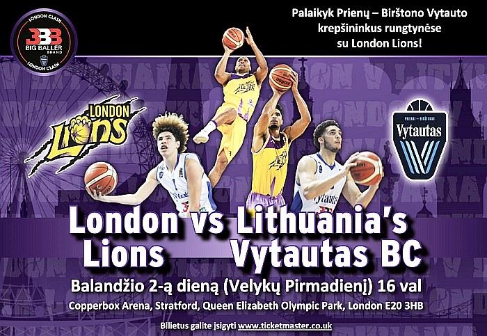"""Ballų šeimyna ir """"Vytautas"""" plečia simpatijų geografiją: rengia Velykų krepšinio šou Londone"""