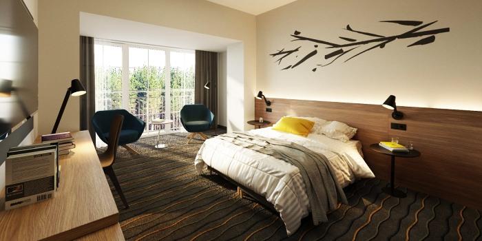 """Būsimasis """"Mercure Birštonas"""" viešbutis atveria naujus kambarius – erdvius, šiuolaikiškus ir įkvėptus gamtos!"""