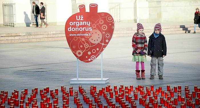 """""""Gyvasties"""" žvakelės liepsnos 1607 organų donorams jau penktadienį"""