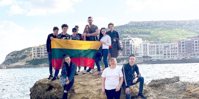 """Prienų moksleiviai dalyvavo Jaunimo mainų projekte """"Living together in diversity"""" Maltoje"""