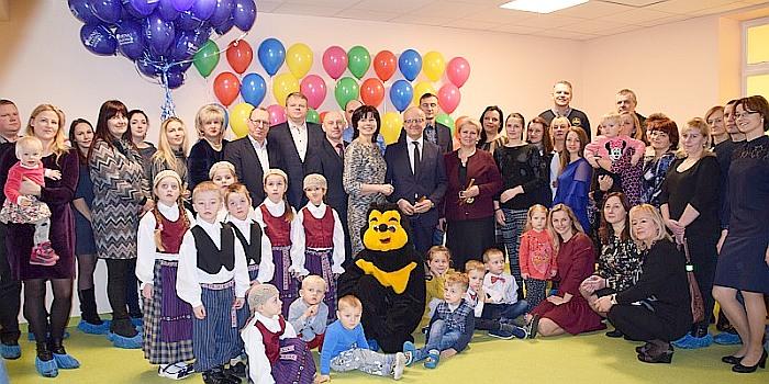 Atidarytas atnaujintas Stakliškių gimnazijos ikimokyklinio ugdymo skyrius