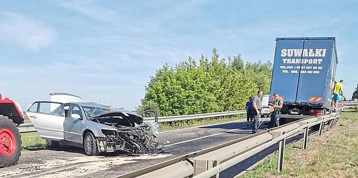 Dėl avarijos kelyje Kaunas–Prienai susidarė 2 kilometrų spūstis