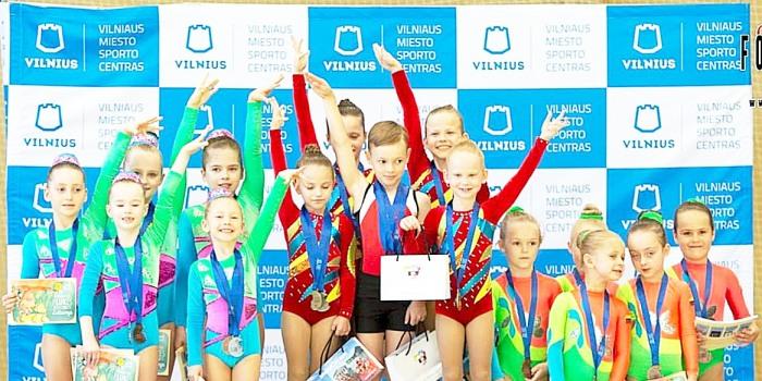 Sėkmė tarptautiniame aerobinės gimnastikos čempionate
