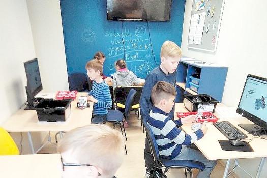 Robotikos ir programavimo užsiėmimai  Birštono viešojoje bibliotekoje