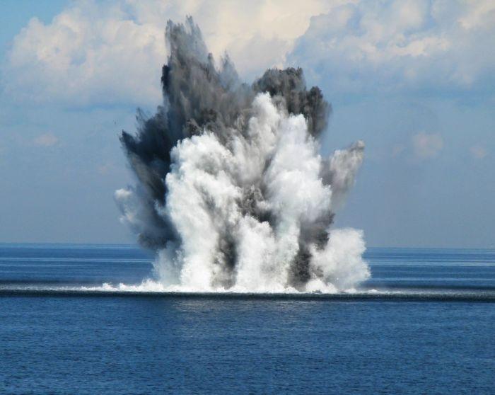 Baltijos jūroje sunaikinta nuo Antrojo pasaulinio karo likusi mina