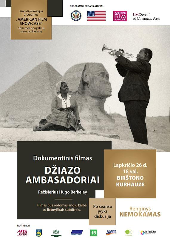 """""""Džiazo ambasadoriai"""" Birštone pradeda JAV kino diplomatijos turą po Lietuvą"""